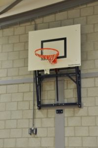 Basketbalinstallatie gasveersysteem