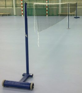 Badmintonpaal verrolbaar