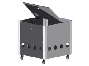 Opbergsysteem ballenwagen kubusmodel